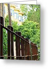 Iron Fence 2 Greeting Card