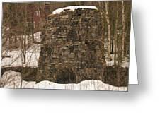 Iron Furnace Greeting Card