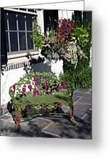Iron Garden Bench Greeting Card