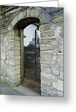 Iron Gate To The Garden Greeting Card