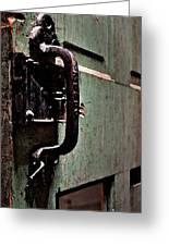 Iron Ic Door Handle Greeting Card