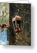 Iron Lamp 7868 Greeting Card