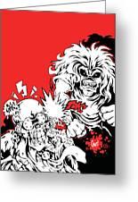 Iron Maiden Vs Megadeth Greeting Card