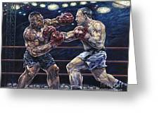 Iron Mike Vs. Rocky Greeting Card