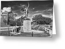 Iron Mke Statue - Parris Island Greeting Card