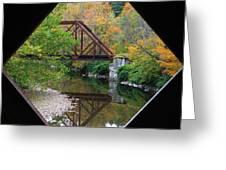 Iron Railroad Bridge From Worrall Covered Bridge Greeting Card
