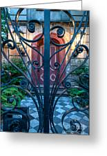 Iron Scroll Entrance Greeting Card