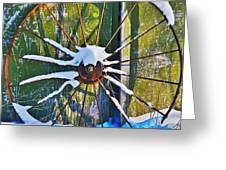 Iron Wheel Greeting Card