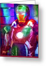 Ironman Abstract Digital Paint 2 Greeting Card