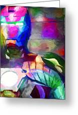 Ironman Abstract Digital Paint 3 Greeting Card