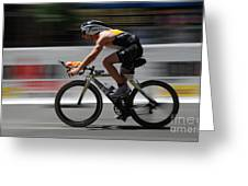 Ironman Need For Speed Greeting Card by Bob Christopher