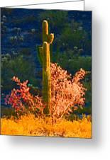 Ironwood Saguaro Dance - Bold Greeting Card