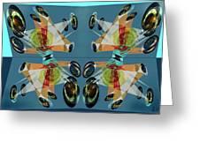 Irregular Mirrored Watches Greeting Card