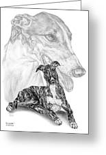 Irresistible - Greyhound Dog Print Greeting Card by Kelli Swan