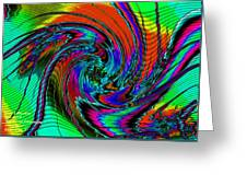 Irritations Converging Into A  Swirl Catus 1 No. 1 H A Greeting Card