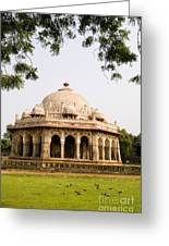 Isa Khan Tomb Burial Sites Greeting Card