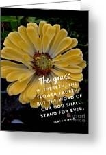 Isaiah 40.8 Greeting Card
