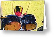 Isaiah The Drummer Greeting Card