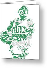 Isaiah Thomas Boston Celtics Pixel Art 15 Greeting Card