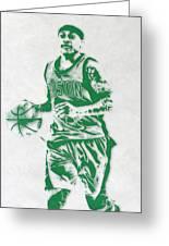 Isaiah Thomas Boston Celtics Pixel Art Greeting Card