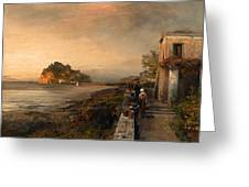 Ischia With A View Of Castello Aragonese Greeting Card