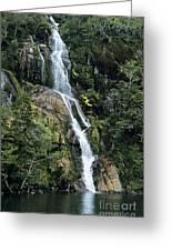Isla Hoste Waterfall Greeting Card