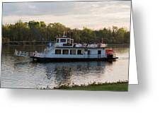 Island Belle Sternwheeler Greeting Card
