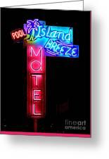 Island Breeze Motel Greeting Card