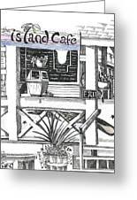 Island Cafe Greeting Card