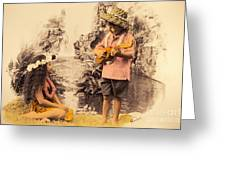 Island Children Greeting Card