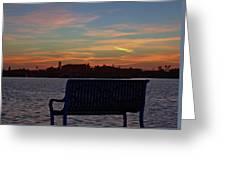 Island Estates Sunrise Greeting Card