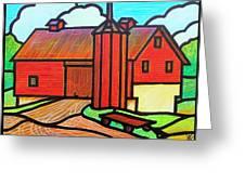 Island Ford Barn 2 Greeting Card