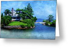 Island Home With Bridge - My Happy Place Greeting Card