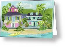 Island Houses Greeting Card