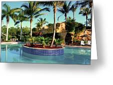 Island In Pool Greeting Card