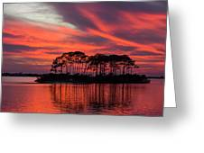 Island In The Fire Greeting Card