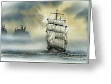 Island Mist Greeting Card