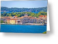 Island Of Krapanj Waterfront View Greeting Card