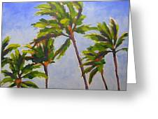 Island Palms Greeting Card