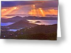 Island Rays Greeting Card