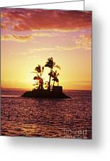 Island Silhouette Greeting Card