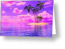 Island Sunrise Greeting Card