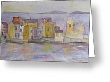 island village in Corsica Greeting Card