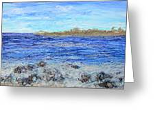 Islands And Surf Greeting Card