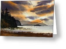 Islands Autumn Sky Greeting Card
