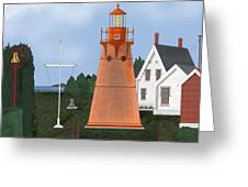 Isle La Motte Vermont Lighthouse Greeting Card