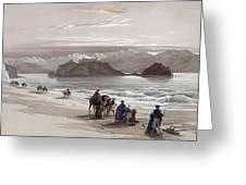 Isle Of Graia Gulf Of Akabah Arabia Petraea Feby 27th 1839 Greeting Card