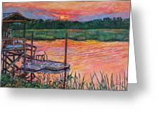 Isle Of Palms Sunset Greeting Card