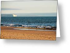 Isle Of Wight As Seen From Bournemouth Beach Greeting Card