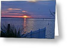 Isle Of Wight Bay Sunset Greeting Card
